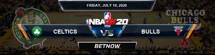 NBA 2k20 Sim Boston Celtics vs Chicago Bulls 7-10-2020 NBA Odds and Picks