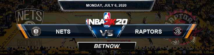 NBA 2k20 Sim Brooklyn Nets vs Toronto Raptors 7-6-2020 NBA Odds and Picks
