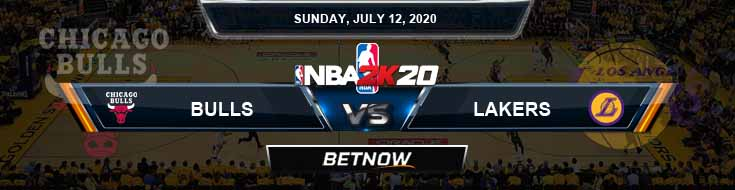 NBA 2k20 Sim Chicago Bulls vs Los Angeles Lakers 7-12-2020 NBA Odds and Picks