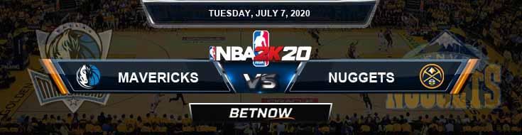 NBA 2k20 Sim Dallas Mavericks vs Denver Nuggets 7-7-2020 NBA Odds and Picks