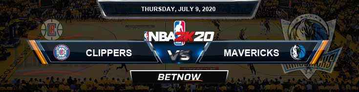 NBA 2k20 Sim Los Angeles Clippers vs Dallas Mavericks 7-9-2020 NBA Odds and Picks