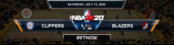 NBA 2k20 Sim Los Angeles Clippers vs Portland Trail Blazers 7-11-2020 NBA Odds and Picks