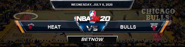 NBA 2k20 Sim Miami Heat vs Chicago Bulls 7-8-2020 NBA Odds and Picks