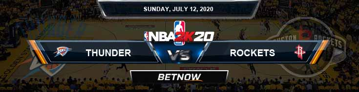 NBA 2k20 Sim Oklahoma City Thunder vs Houston Rockets 7-12-2020 NBA Odds and Picks