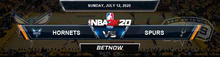NBA 2k20 Sim San Antonio Spurs vs Charlotte Hornets 7-12-2020 NBA Odds and Picks