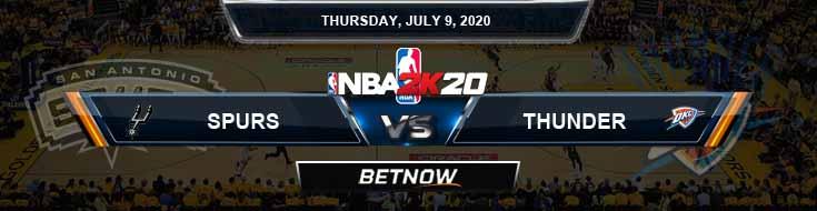 NBA 2k20 Sim San Antonio Spurs vs Oklahoma City Thunder 7-9-2020 NBA Odds and Picks