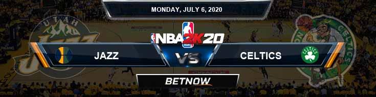 NBA 2k20 Sim Utah Jazz vs Boston Celtics 7-6-20 NBA Odds and Picks