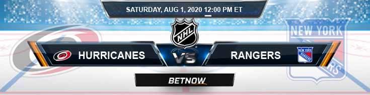 New York Rangers vs Carolina Hurricanes 08-01-2020 NHL Odds Picks and Betting Predictions