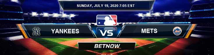New York Yankees vs New York Mets 07-19-2020 MLB Picks Game Analysis and Baseball Betting