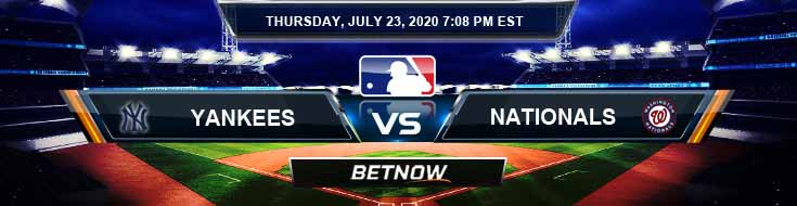 New York Yankees vs Washington Nationals 07-23-2020 MLB Results Odds and Baseball Analysis
