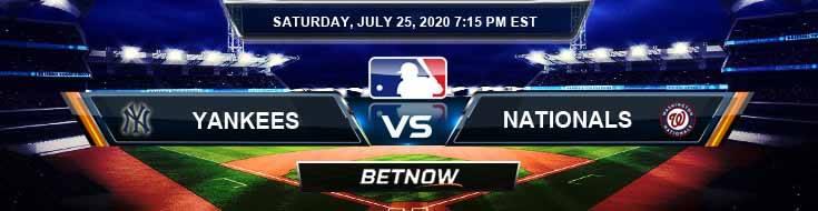 New York Yankees vs Washington Nationals 07-25-2020 MLB Baseball Odds and Picks