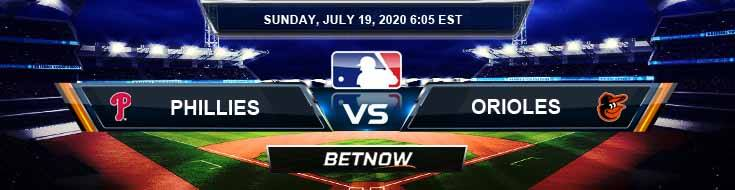 Philadelphia Phillies vs Baltimore Orioles 07-19-2020 MLB Predictions Baseball Results and Betting Odds