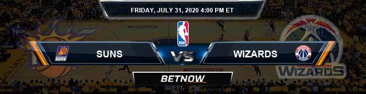Phoenix Suns vs Washington Wizards 7-31-2020 Odds Picks and Previews