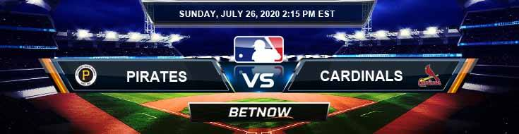 Pittsburgh Pirates vs Saint Louis Cardinals 07-26-2020 MLB Previews Game Analysis and Baseball Spread
