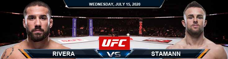 UFC on ESPN 13 Rivera vs Stamann 07/15/2020 Picks Predictions Previews