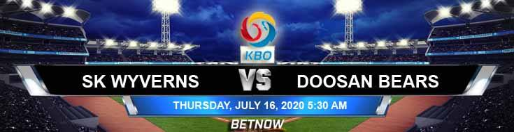 SK Wyverns vs Doosan Bears 07-16-2020 KBO Analysis Odds and Betting Picks
