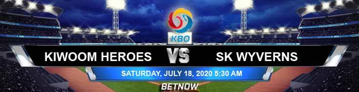 SK Wyverns vs Kiwoom Heroes 07-18-2020 KBO Previews Game Analysis and Baseball Tips