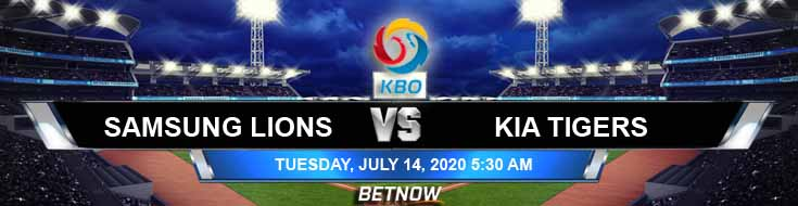 Samsung Lions vs KIA Tigers 07-14-2020 KBO Picks Baseball Previews and Betting Spread