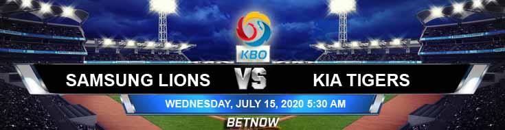 Samsung Lions vs KIA Tigers 07-15-2020 KBO Baseball Game Analysis and Predictions