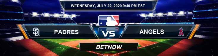 San Diego Padres vs Los Angeles Angels 07-22-2020 MLB Previews Game Analysis and Baseball Betting