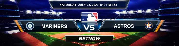 Seattle Mariners vs Houston Astros 07-25-2020 Baseball Odds Game Analysis and MLB Predictions