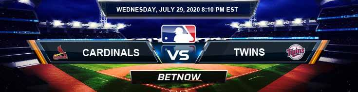 St. Louis Cardinals vs Minnesota Twins 07-29-2020 MLB Previews Spread and Game Analysis