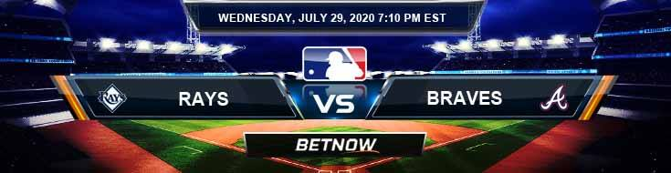 Tampa Bay Rays vs Atlanta Braves 07-29-2020 MLB Predictions Previews and Betting Spread