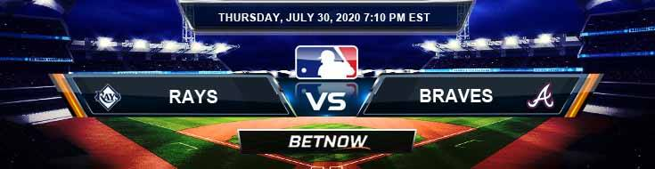 Tampa Bay Rays vs Atlanta Braves 07-30-2020 MLB Previews Spread and Game Analysis