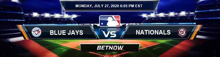 Toronto Blue Jays vs Washington Nationals 07-27-2020 MLB Baseball Betting Tips and Forecast