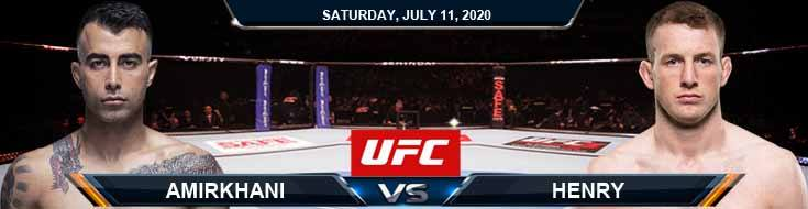 UFC 251 Amirkhani vs Henry 07-11-2020 UFC Previews Spread and Fight Analysis