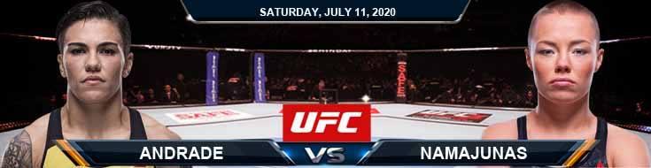 UFC 251 Andrade vs Namajunas 07-11-2020 UFC Previews Spread and Fight Analysis
