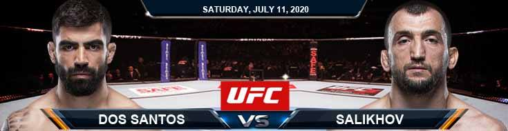 UFC 251 Dos Santos vs Salikhov 07-11-2020 UFC Odds Picks and Betting Predictions