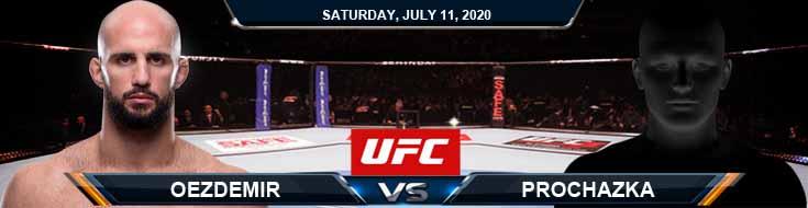 UFC 251 Oezdemir vs Prochazka 07-11-2020 UFC Spread Fight Analysis and Betting Forecasts