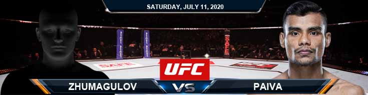 UFC 251 Paiva vs Zhamagulov 07-11-2020 UFC Predictions Previews and Betting Spread