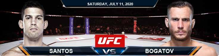 UFC 251 Santos vs Bogatov 07-11-2020 UFC Forecasts Tips and Betting Results