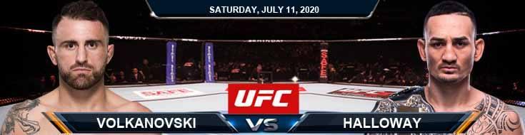 UFC 251 Volkanovski vs Holloway 07-11-2020 UFC Odds Picks and Betting Predictions
