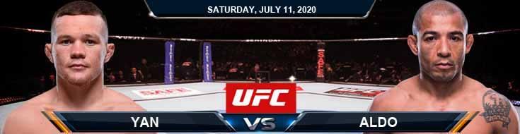 UFC 251 Yan vs Aldo 07-11-2020 UFC Predictions Previews and Betting Spread