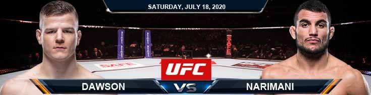 UFC Fight Night 172: Dawson vs Narimani 07/18/2020 Analysis, Odds and Betting Spread