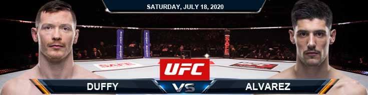 UFC Fight Night 172 Duffy vs Alvarez 07-18-2020 Picks Predictions and Previews