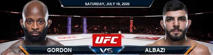 UFC Fight Night 172 Gordon vs Albazi 07-18-2020 Picks Predictions and Betting Previews