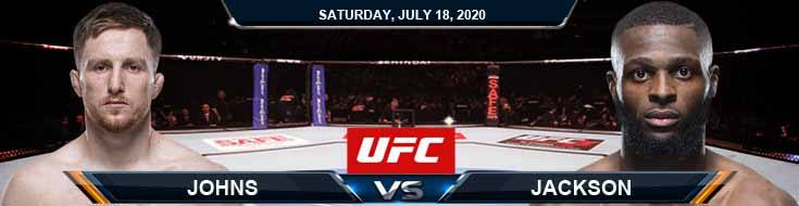 UFC Fight Night 172 Johns vs Jackson 07-18-2020 Previews Tips and Fight Analysis