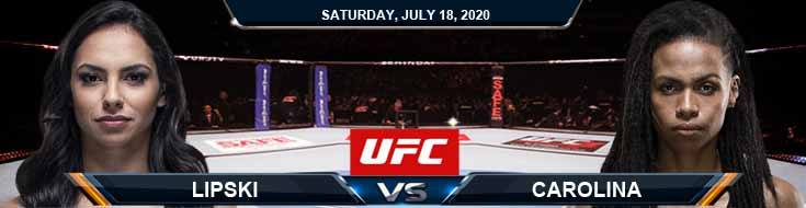 UFC Fight Night 172 Lipski vs Carolina 07-18-2020 Fight Analysis Picks and Previews