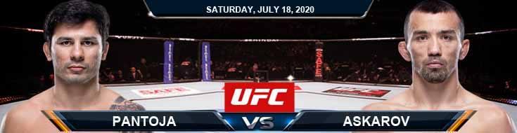 UFC Fight Night 172 Pantoja vs Askarov 07-18-2020 Tips Odds and Results