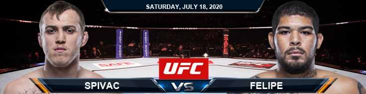 UFC Fight Night 172 Spivak vs Felipe 07-18-2020 Predictions Tips and Analysis