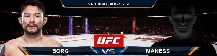 UFC Fight Night 173 Borg vs Maness 08-01-2020 Analysis Betting Odds and Picks