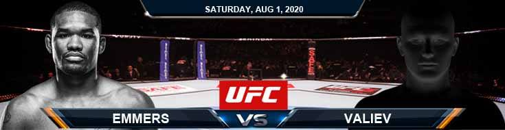UFC Fight Night 173 Emmers vs Valiev 08-01-2020 Fight Analysis Betting Forecast and Tips