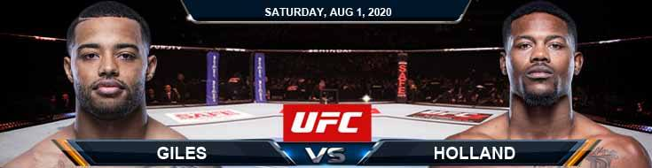 UFC Fight Night 173 Giles vs Holland 08-01-2020 Spread Game Analysis and Forecast