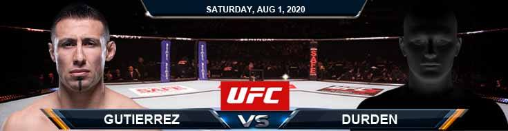 UFC Fight Night 173 Gutierrez vs Durden 08-01-2020 Results Betting Analysis and Odds