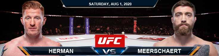 UFC Fight Night 173 Herman vs Meerschaert 08-01-2020 Forecast Tips and Results