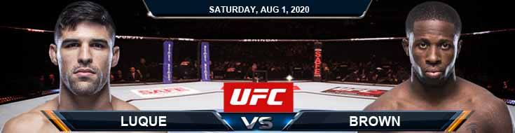 UFC Fight Night 173 Luque vs Brown 08-01-2020 Predictions Previews and Spread